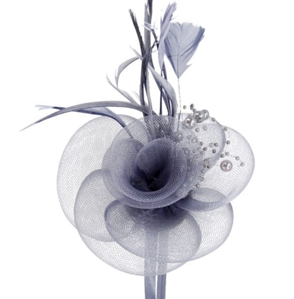 Ladies Mesh Flower Fascinator - Gissings Boutique