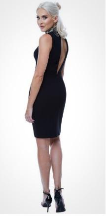 High Neck Embellished Dress - Gissings Boutique