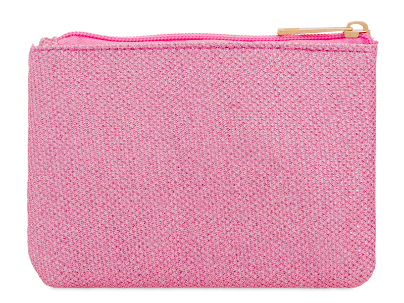 Pink Crystal Studded Purse/Makeup Bag - Gissings Boutique