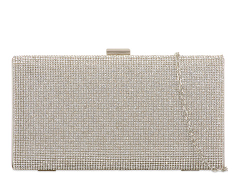 Silver Diamanté Evening Clutch Bag - Gissings Boutique