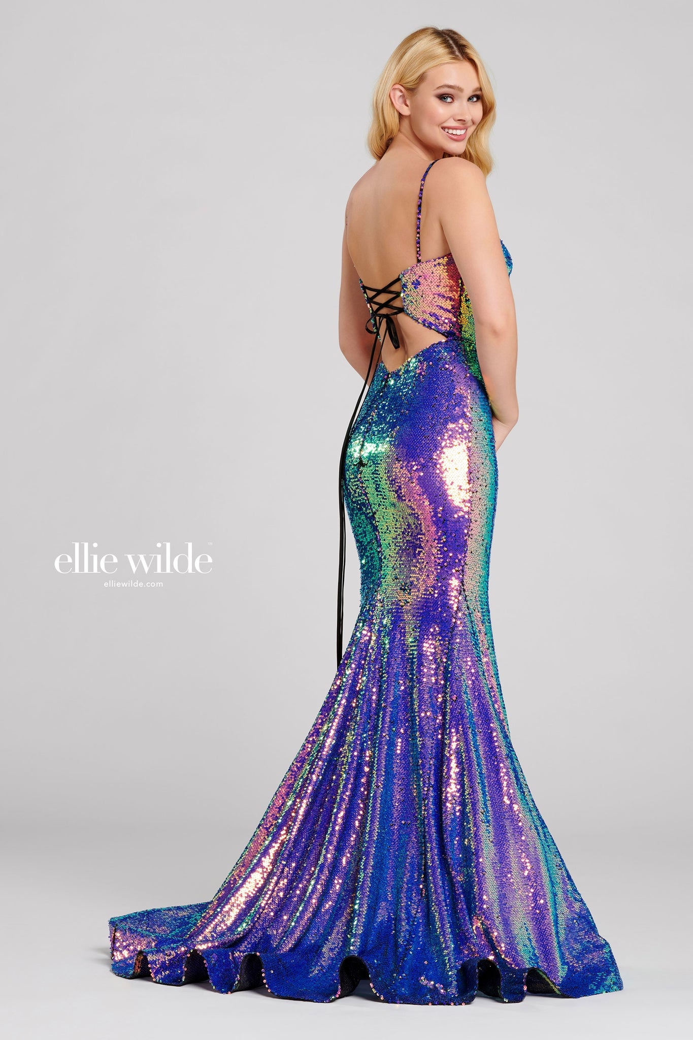 Ellie Wilde Mermaid Sequin Gown - Gissings Boutique