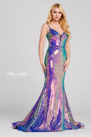 Ellie Wilde Mermaid Sequin Gown