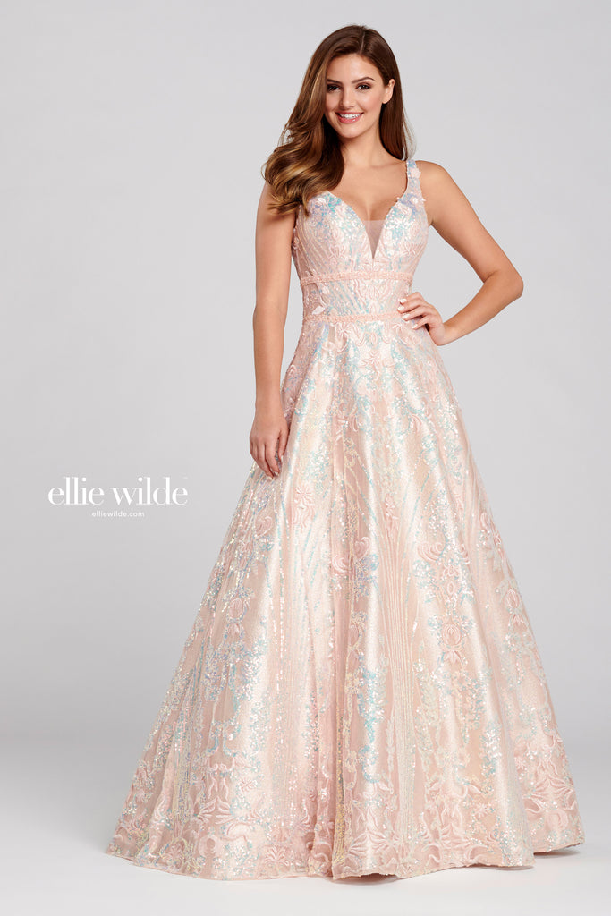 Ellie Wilde Rose Quartz Prom Gown - Gissings Boutique