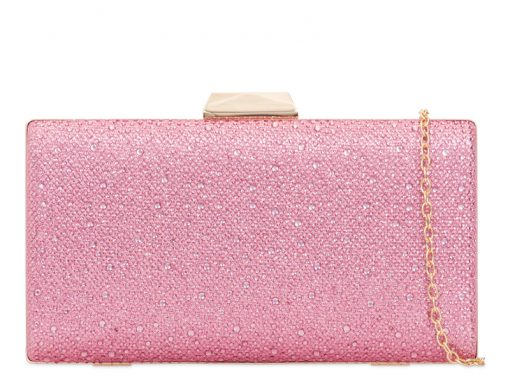 Pink Crystal & Glitter Clutch Bag - Gissings Boutique