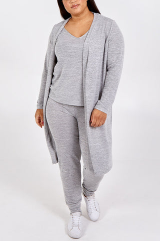 Curve Supersoft Grey Loungewear Set - Gissings Boutique