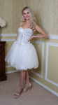 Ellie Wilde White Tulle Strapless Party Dress - Gissings Boutique