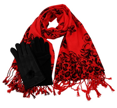 Ladies Christmas Gift under £30.00 Scarf & Glove Set