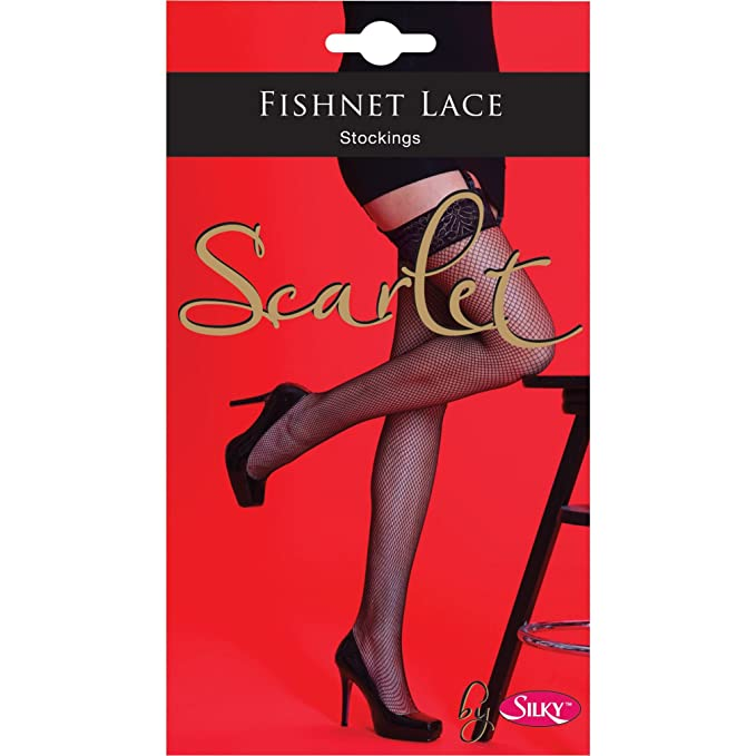 Fishnet Lace Stockings - Black (One Size) - Gissings Boutique
