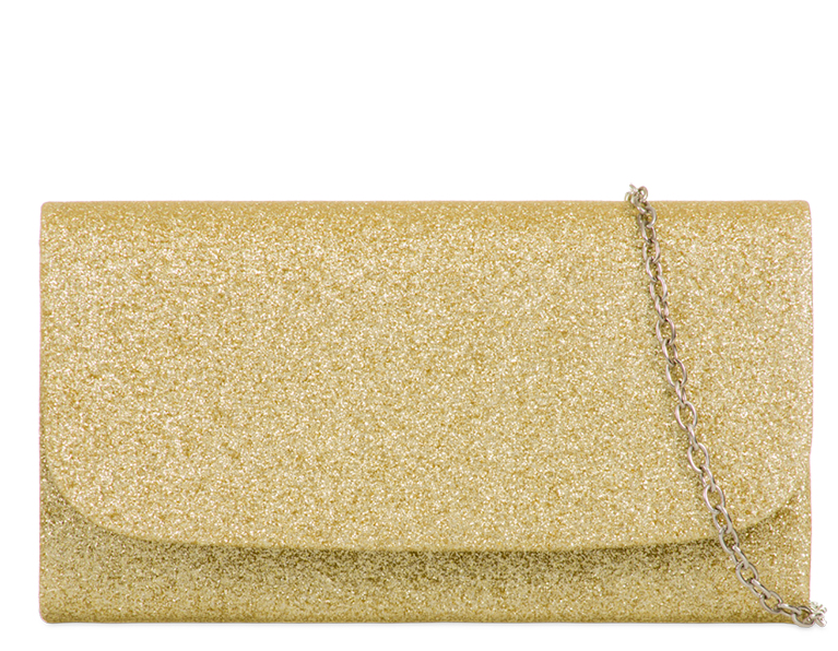 Gold Glitter Clutch Bag - Gissings Boutique