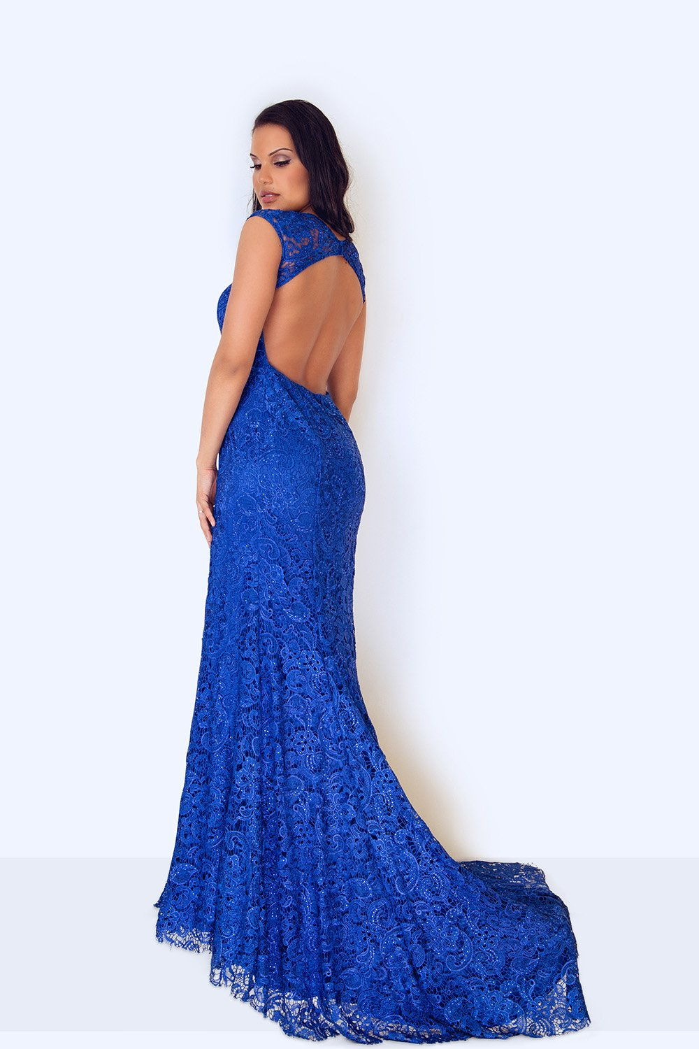 Kanti Long Blue Lace Dress