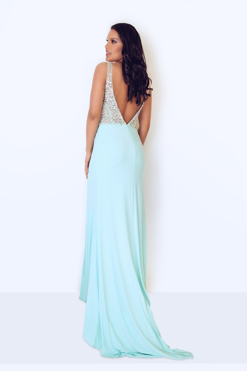 Vivienne Duck Egg Blue Long Dress - Gissings Boutique