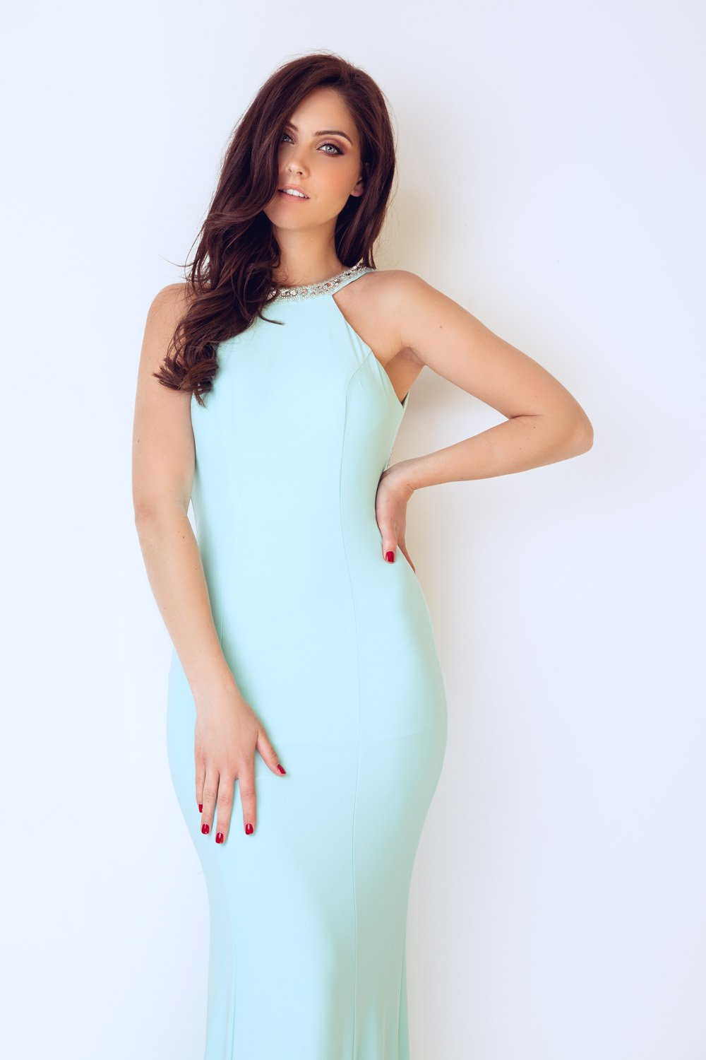 Kasa Duck Egg Blue Dress