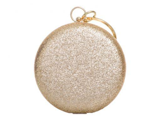 Round Silver Sparkly Bag