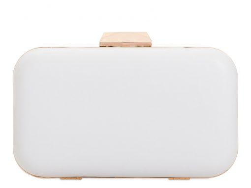 White Flower Detailed Clutch Bag