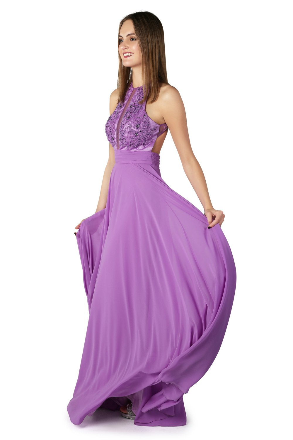 Jaya Lavender Long Gown - Gissings Boutique