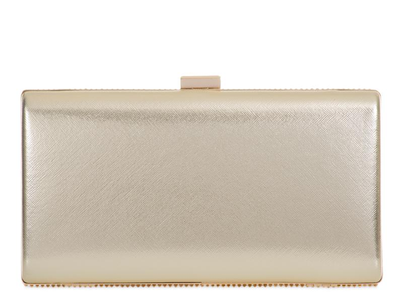 Mini Gold Crystal Clutch Bag
