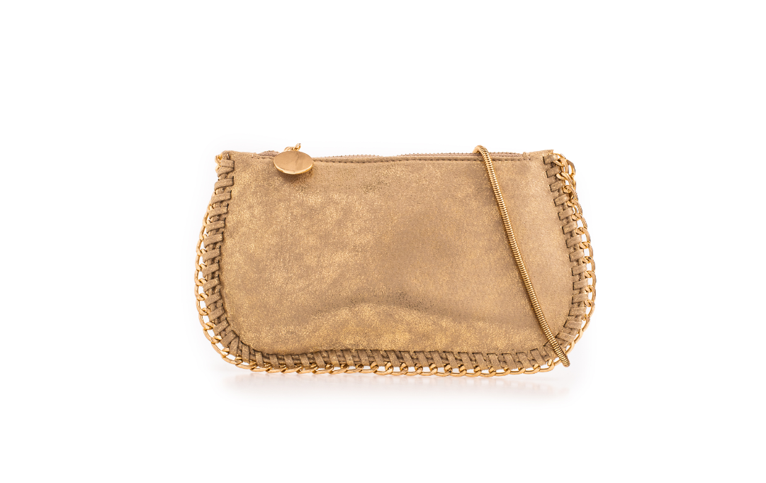 Suede Gold Effect Stella McCartney Style Bag