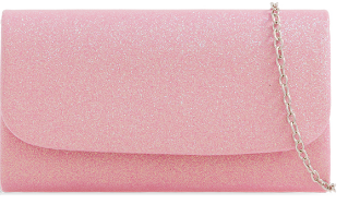 Pink Mini Glitter Clutch Bag