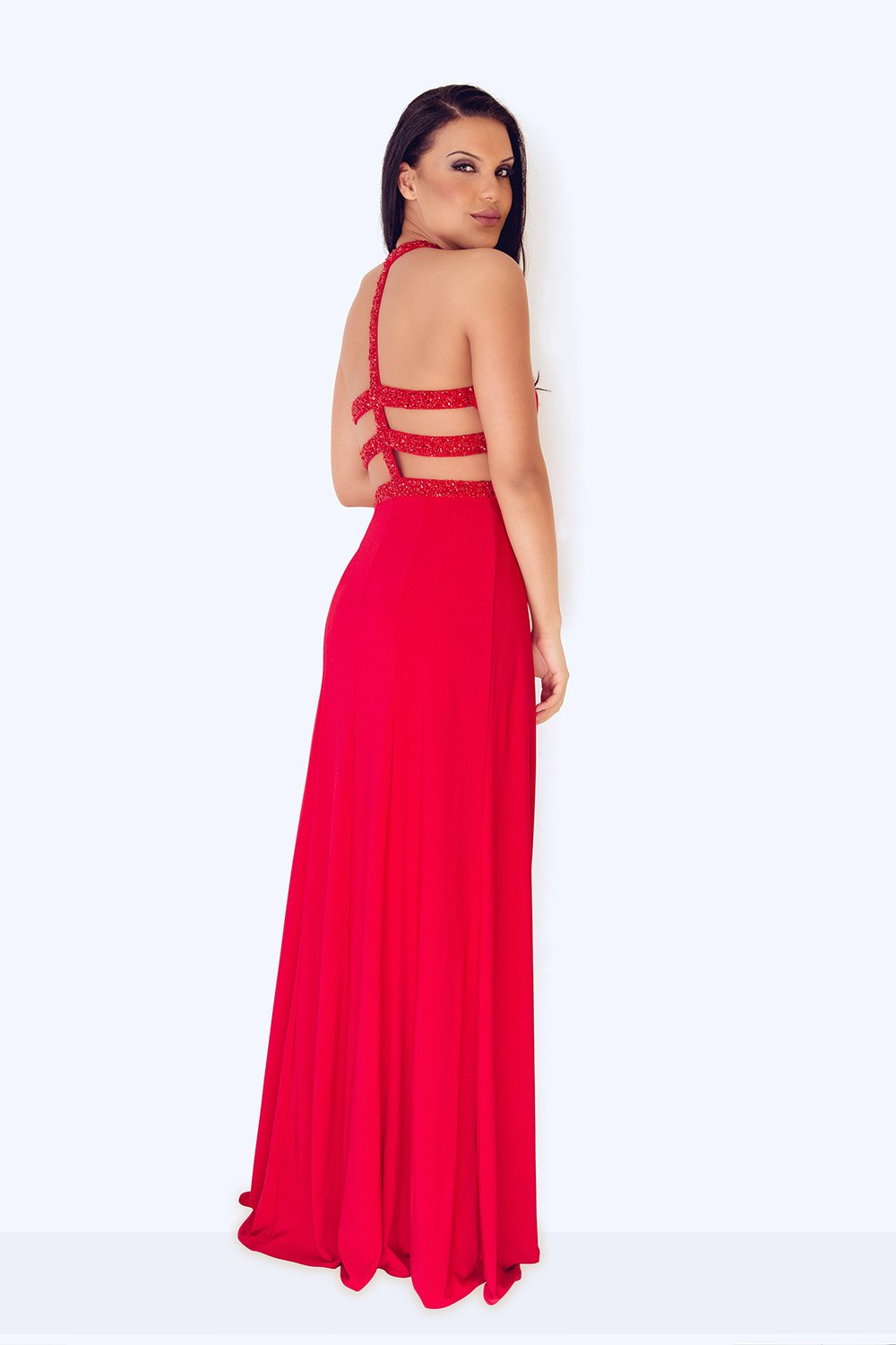Lamia Long Red Dress