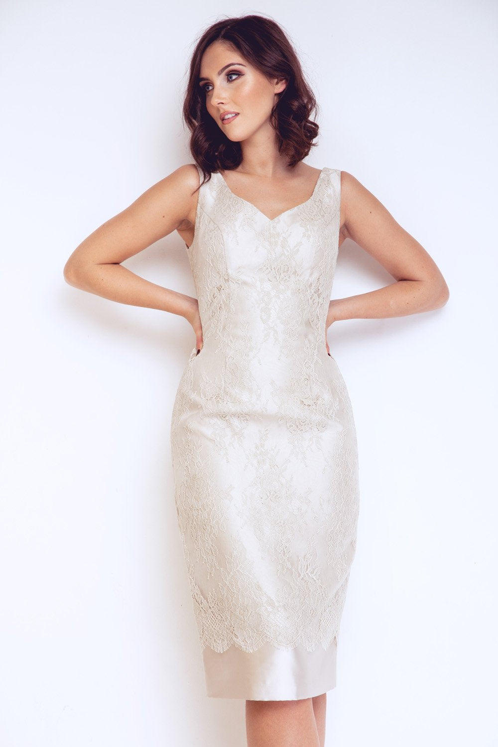 Champagne Mother of The Bride Dress & Jacket