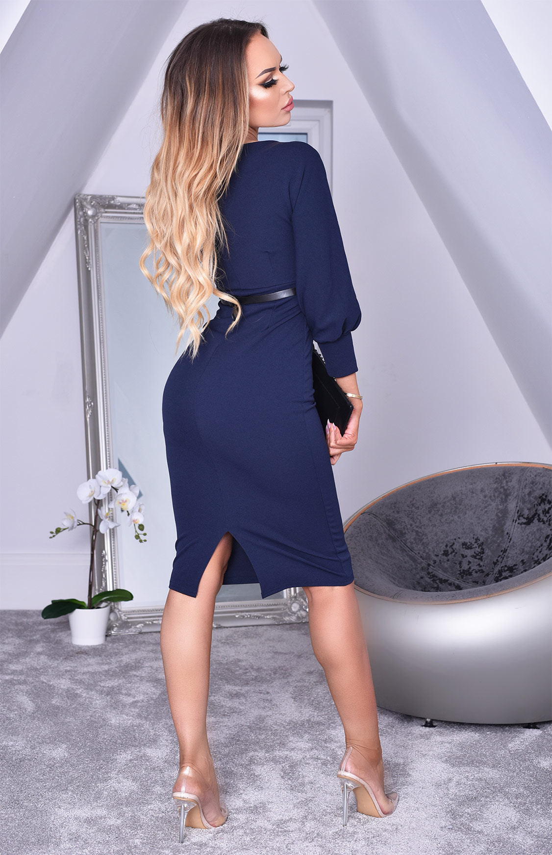 Shannon Belted Jersey Dress - Gissings Boutique