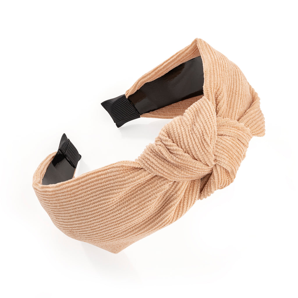 Beige Cord Look Knotted Fashion Headband - Gissings Boutique
