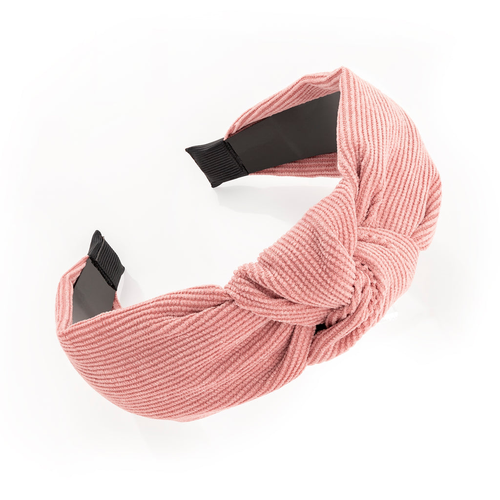 Dusky Pink Cord Look Knot Headband - Gissings Boutique