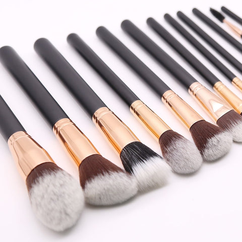 Gissings Beauty Cosmetics Vegan Luxury Rose Gold Full Makeup Brush Set - Gissings Boutique