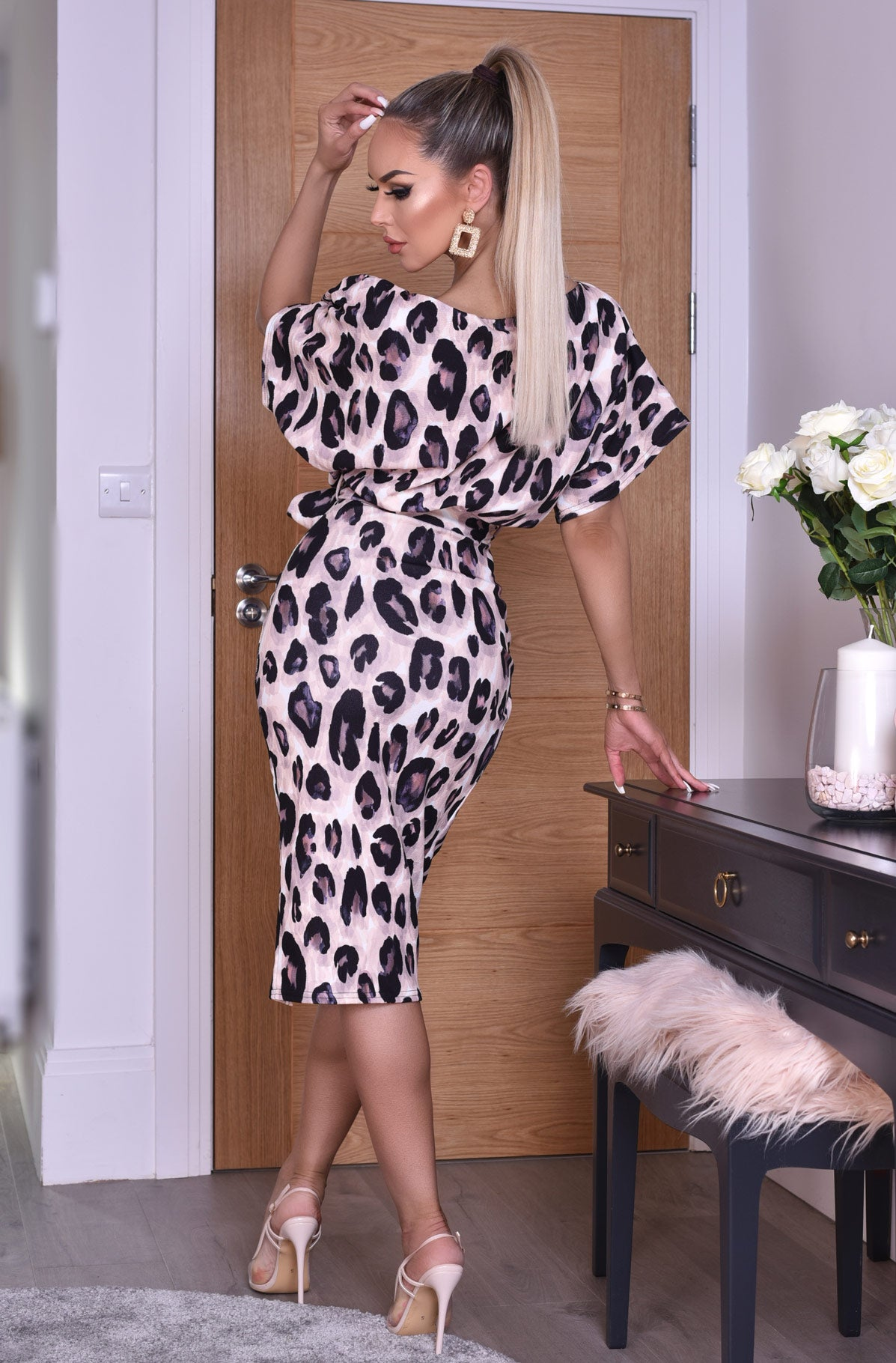 Portia Leopard Print Dress
