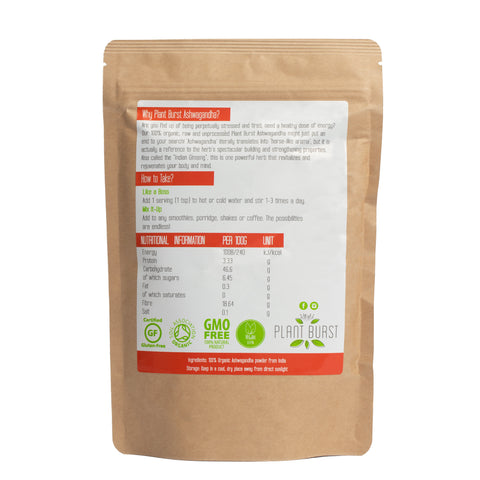 Best Organic Ashwagandha Powder (200g) - Ashwagandha for Anxiety and Depression