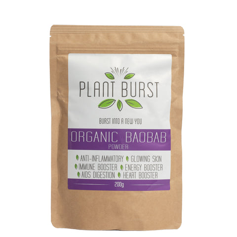 Organic Baobab Powder (200g) - Best Prebiotic Fiber Supplement