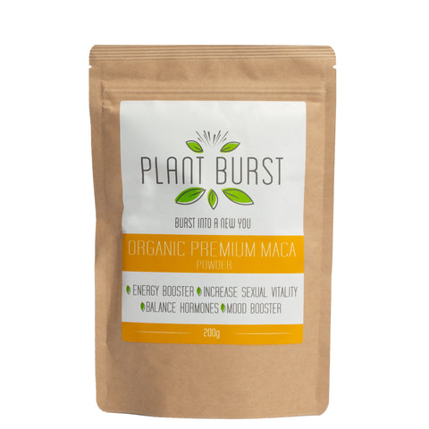 Organic Premium 4 Root Maca Powder (200g) - Maca Root for Hormone Balance