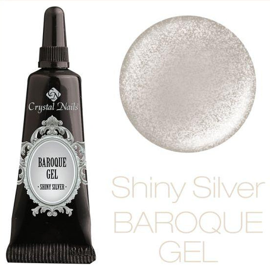 BAROQUE GEL - SHINY SILVER - Crystal Nails Sweden
