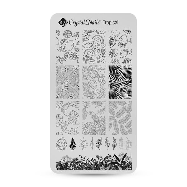 CUSTOM CRYSTAL NAILS NAIL PRINTING PLATE - TROPICAL