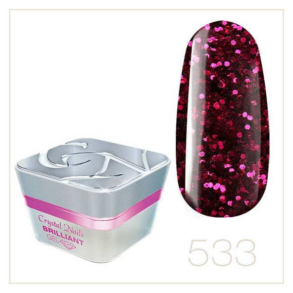BRILLIANT GEL 533 5ml - Crystal Nails Sweden