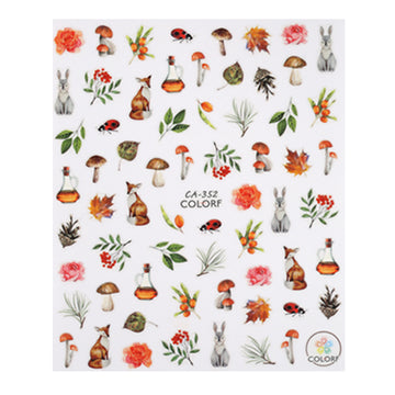 CN NAIL STICKER (CA-352) FOREST DEPTH
