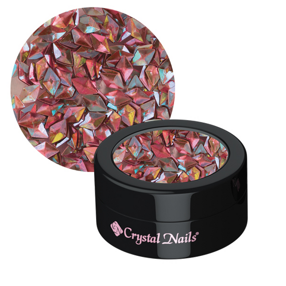3D RHOMBUS ORNAMENTAL SEQUINS - PEACH