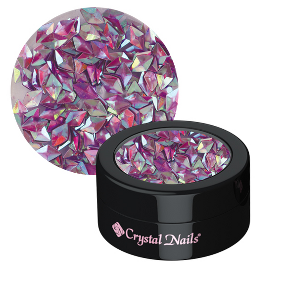 3D RHOMBUS ORNAMENTAL SEQUINS - VIOLET