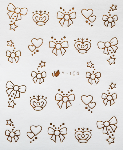CN NAIL STICKER GOLD