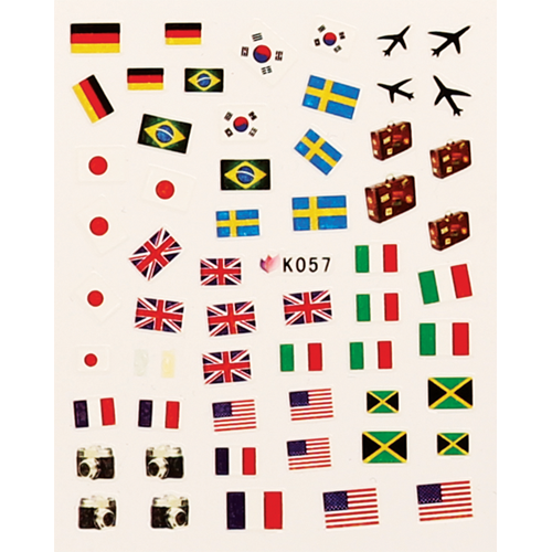 CN NAIL STICKER COUNTRIES