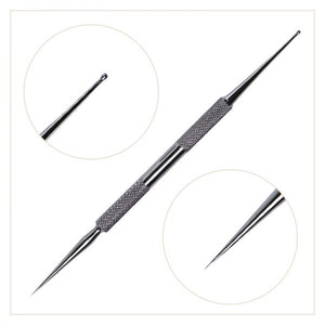 CRYSTAL NAILS DECORATIVE NEEDLE STEEL DROP WITH BALL AND NEEDLE TIP