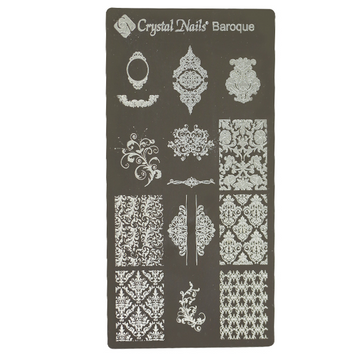 UNIQUE CRYSTAL NAILS NAIL PRINTING PLATE - BAROQUE