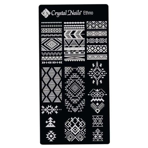UNIQUE CRYSTAL NAILS NAIL PRINTING PLATE - ETHNO
