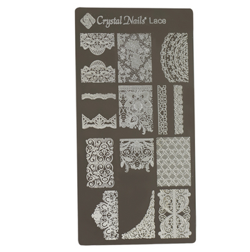 UNIQUE CRYSTAL NAILS NAIL PRINTING PLATE - LACE