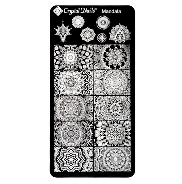 UNIQUE CRYSTAL NAILS NAIL PRINTING PLATE - MANDALA