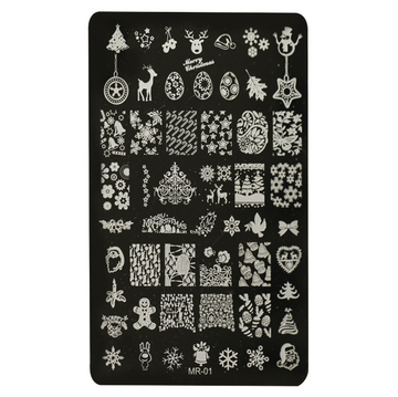 NAIL PRINTING PLATE - WINTER TALES (MR1)