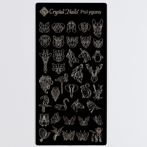 UNIQUE CRYSTAL NAILS NAIL PRINTING PLATE - POLYGONS