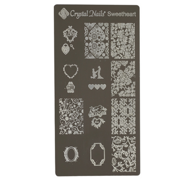 UNIQUE CRYSTAL NAILS NAIL PRINTING PLATE - SWEETHEART