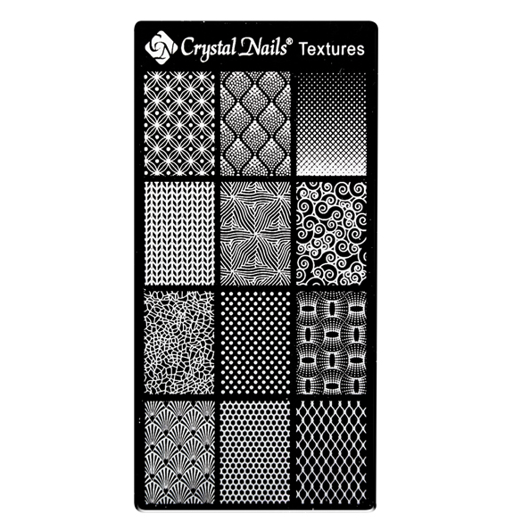 UNIQUE CRYSTAL NAILS NAIL PRINTING PLATE - TEXTURES