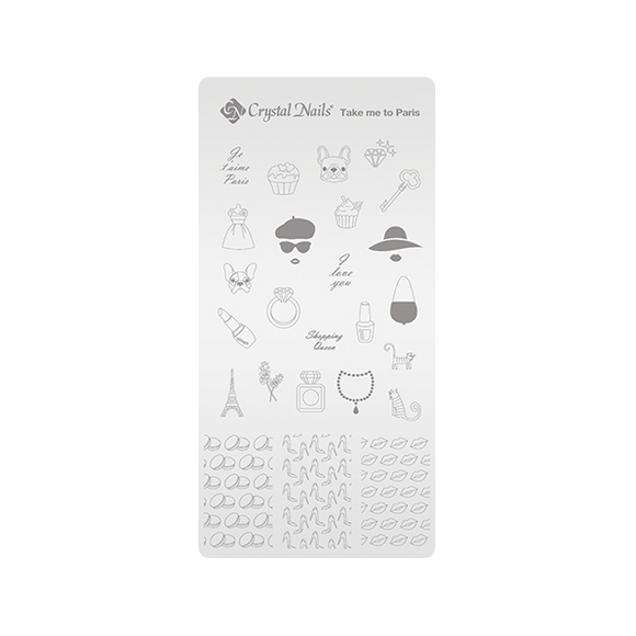 UNIQUE CRYSTAL NAILS NAIL PRINTING PLATE - TAKE ME TO PARIS